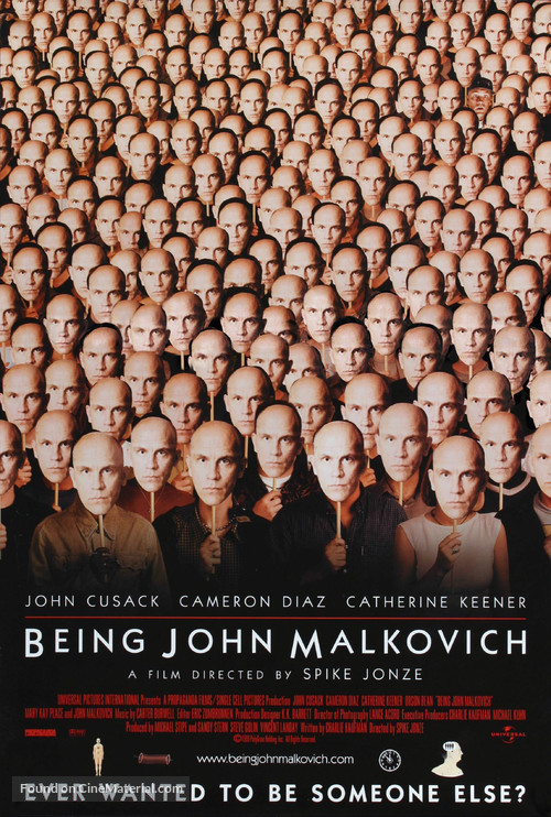 Being John Malkovich - Movie Poster