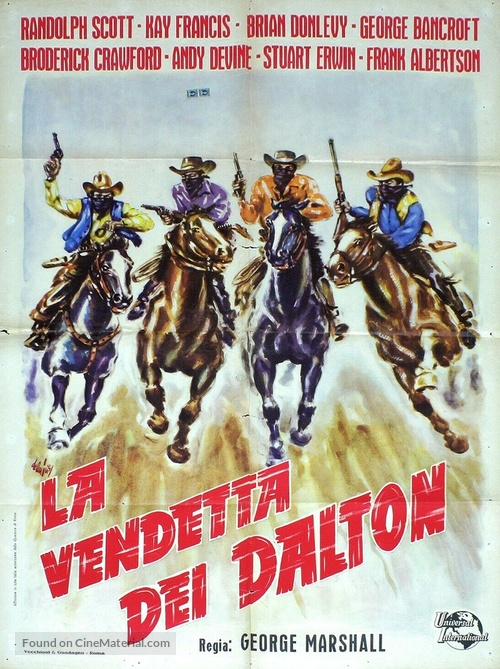 When the Daltons Rode - Italian Movie Poster