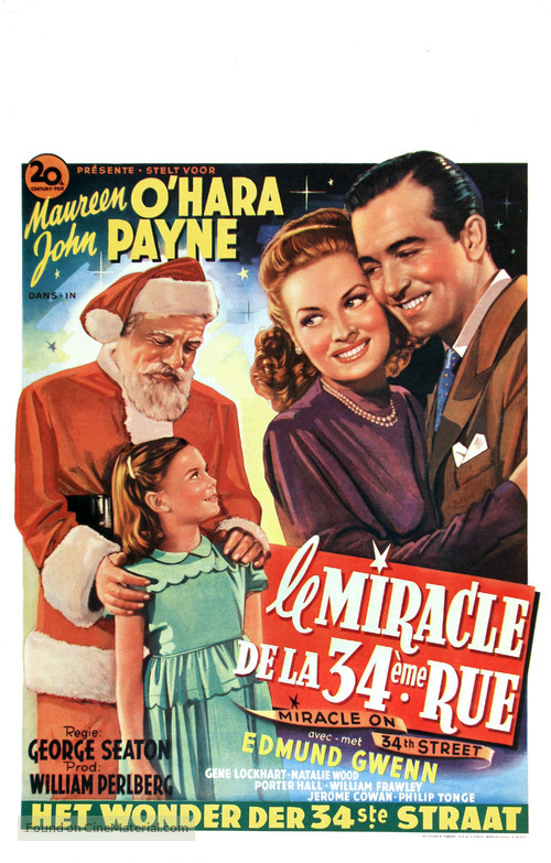 miracle on 34th street belgian movie poster