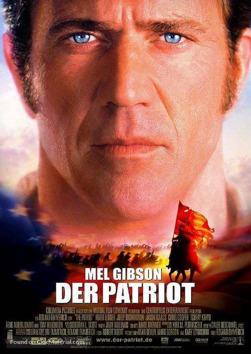 The Patriot - German Theatrical movie poster