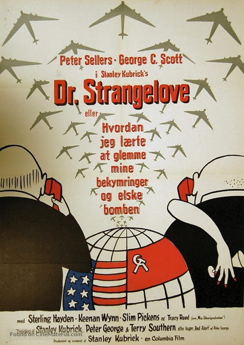 Dr. Strangelove - Danish Movie Poster