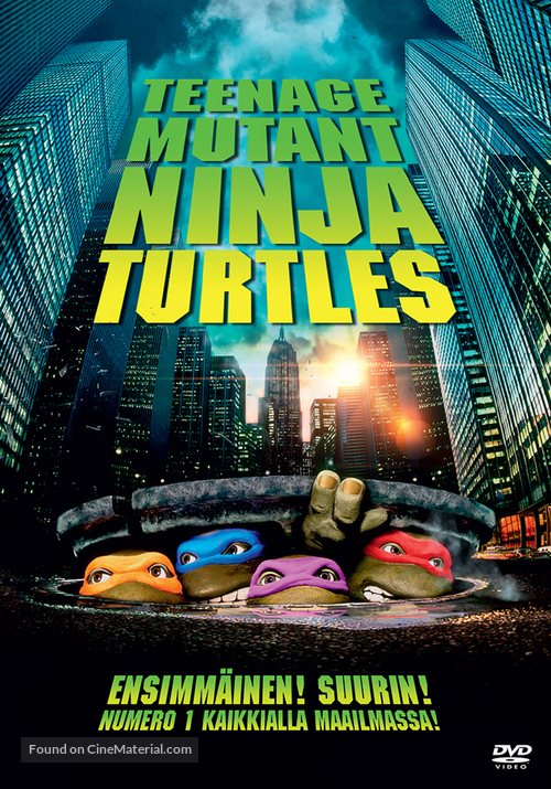 Teenage Mutant Ninja Turtles - Finnish DVD cover