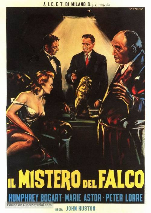 The Maltese Falcon - Italian Movie Poster