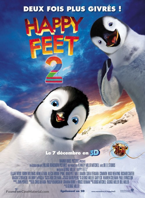 Happy Feet Two - French Movie Poster