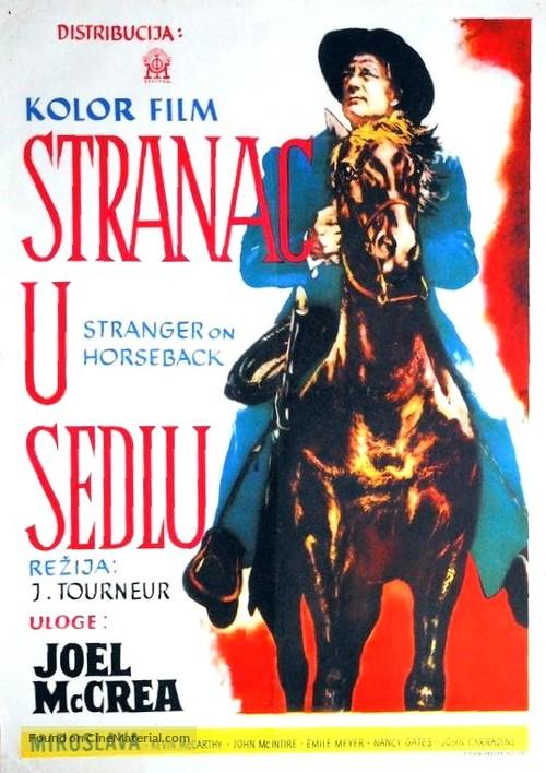 Stranger on Horseback - Yugoslav Movie Poster