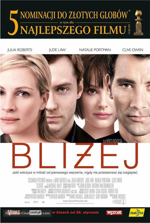 Closer - Polish Movie Poster