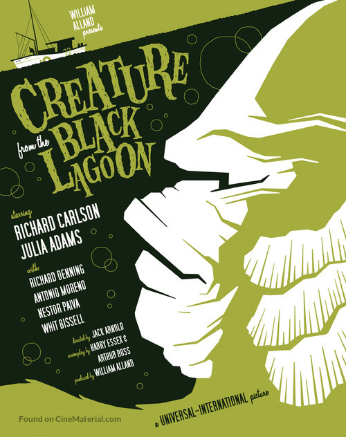 Creature from the Black Lagoon - Homage movie poster