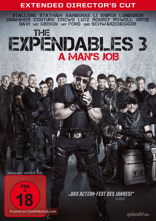 The Expendables 3 - German DVD cover