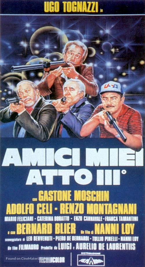 Amici miei atto III - Italian Movie Poster