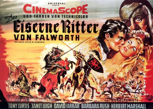 The Black Shield of Falworth - German Movie Poster
