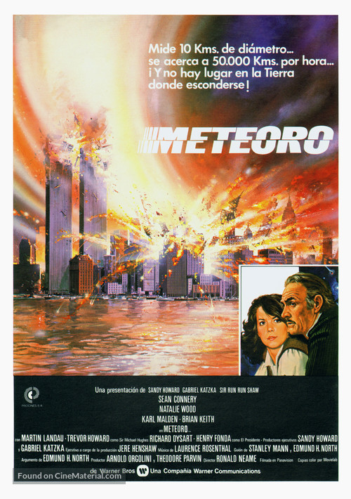 Meteor - Spanish Movie Poster