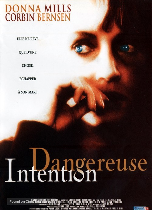 Dangerous Intentions - French DVD movie cover