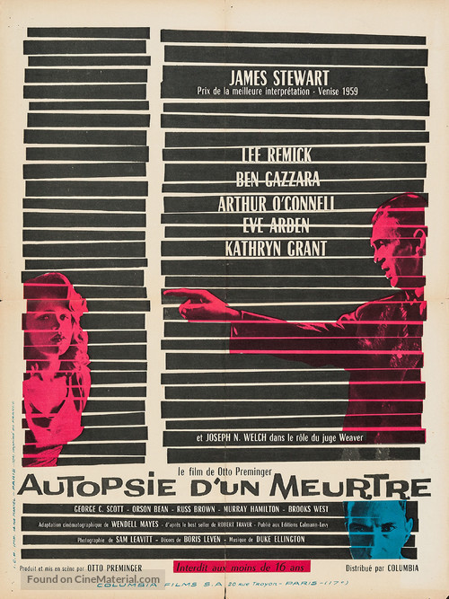 Anatomy of a Murder - French Movie Poster