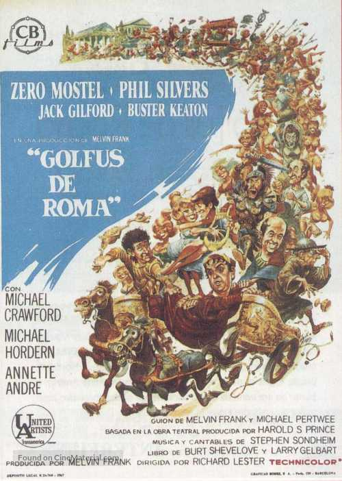 A Funny Thing Happened on the Way to the Forum - Spanish Movie Poster