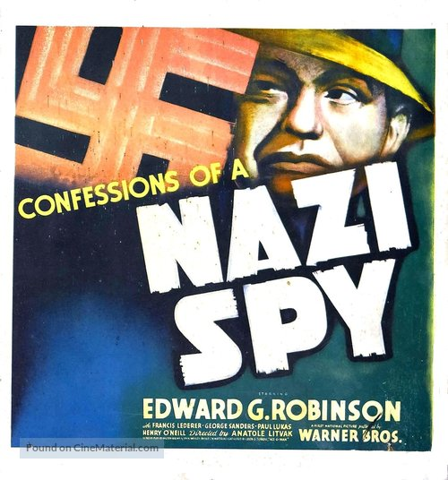 Image result for confessions of a nazi spy poster