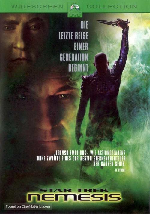 Star Trek: Nemesis - German DVD cover