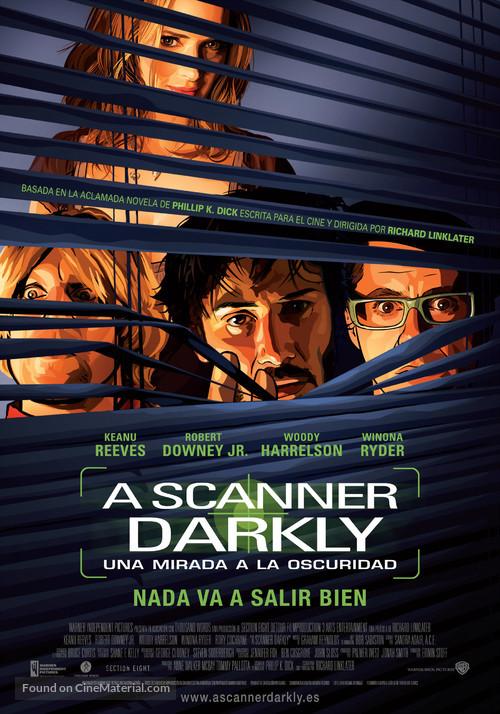 A Scanner Darkly - Spanish Movie Poster