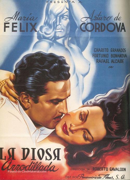 La diosa arrodillada - Mexican Movie Poster