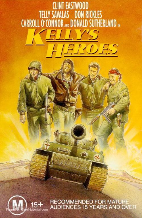 Kelly's Heroes - Australian VHS movie cover