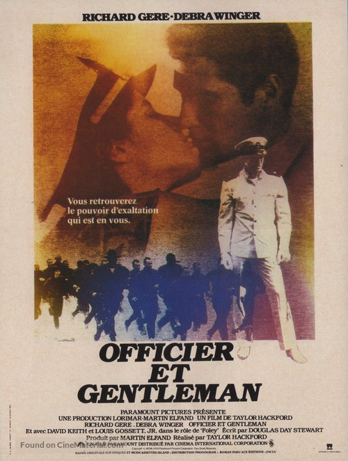 An Officer and a Gentleman - French Movie Poster