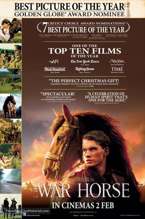 War Horse - Malaysian Movie Poster