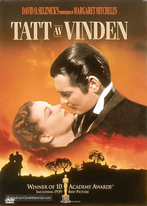 Gone with the Wind - Norwegian Movie Cover