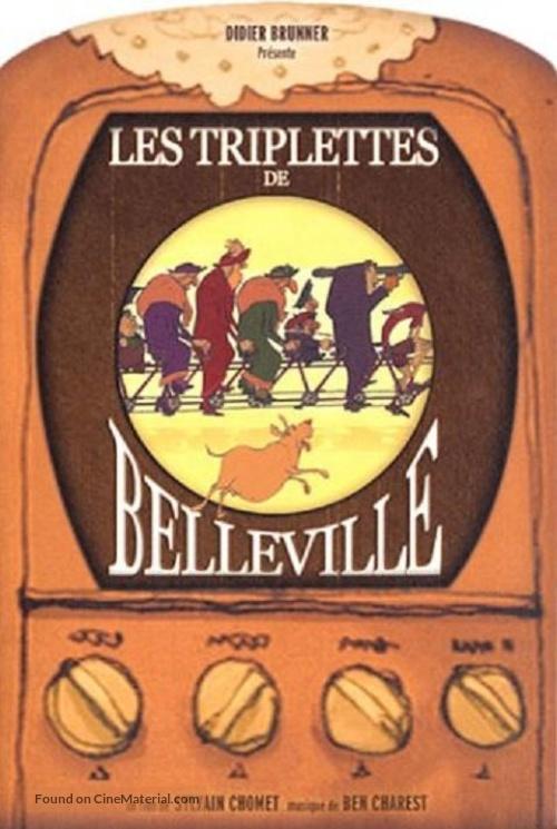 Les triplettes de Belleville - French DVD movie cover