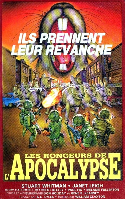 Night of the Lepus - French VHS movie cover