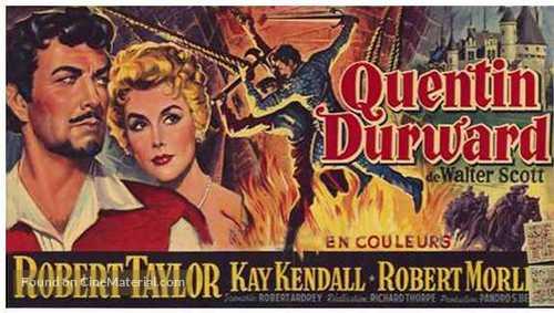 The Adventures of Quentin Durward - Belgian Movie Poster