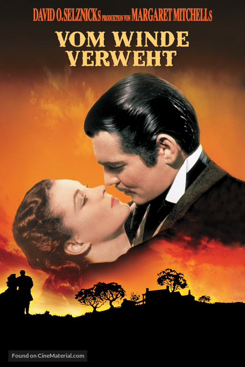 Gone with the Wind - German DVD movie cover
