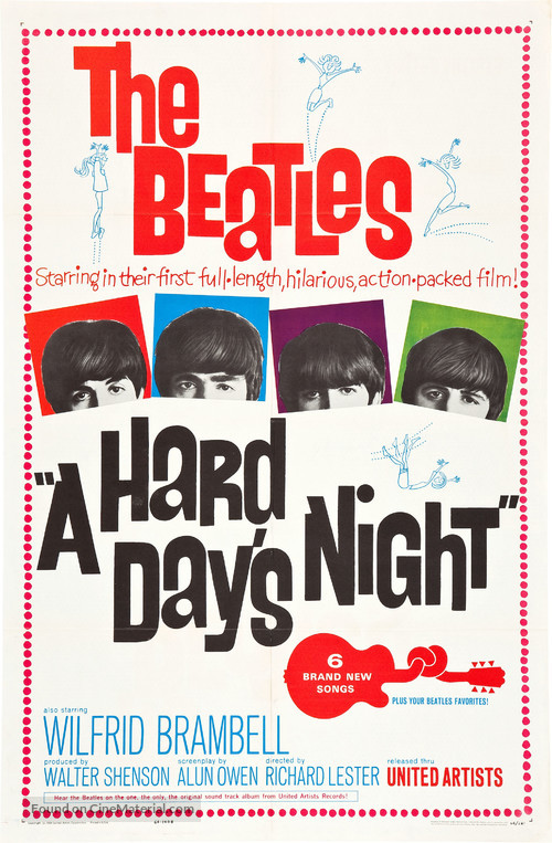 A Hard Day's Night - Movie Poster