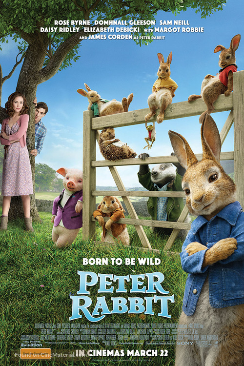Peter Rabbit - Australian Movie Poster