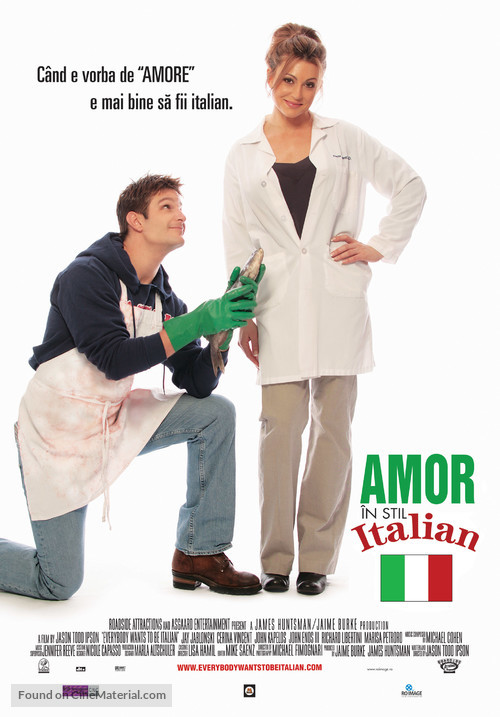 Everybody Wants to Be Italian - Romanian Movie Poster