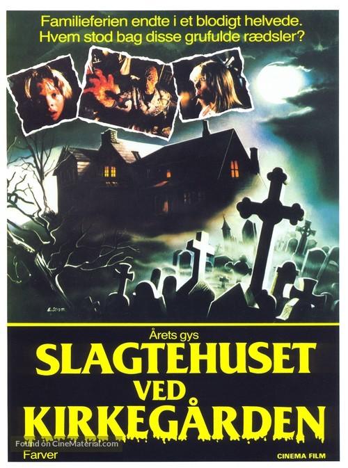 Quella villa accanto al cimitero - Danish Movie Poster