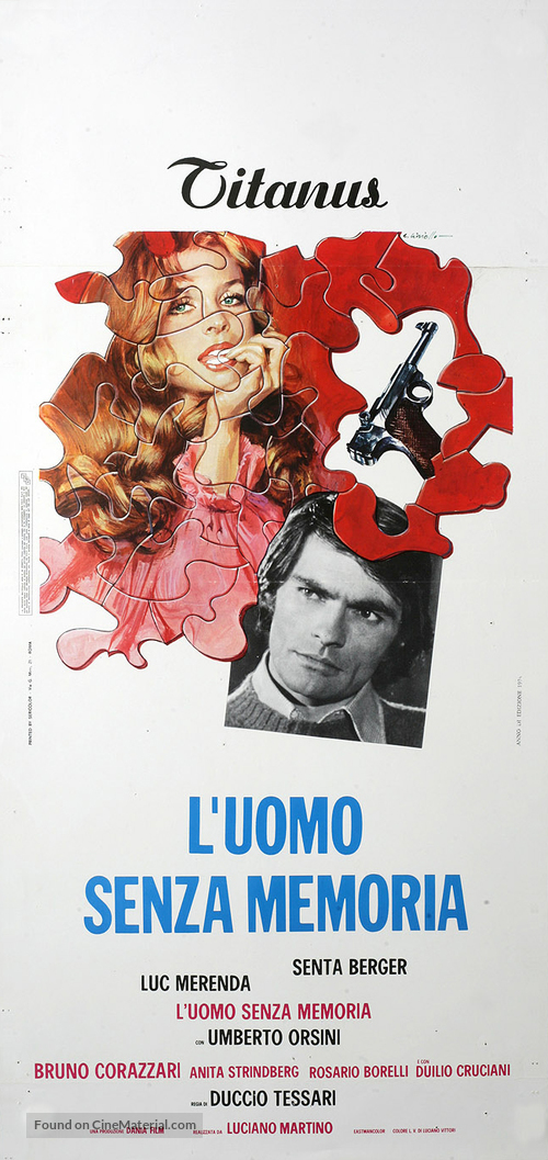 L'uomo senza memoria - Italian Movie Poster