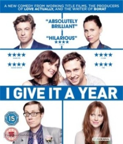 I Give It a Year - British Blu-Ray movie cover