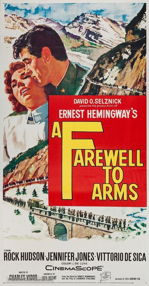 A Farewell to Arms movie poster A Farewell To Arms Movie Poster