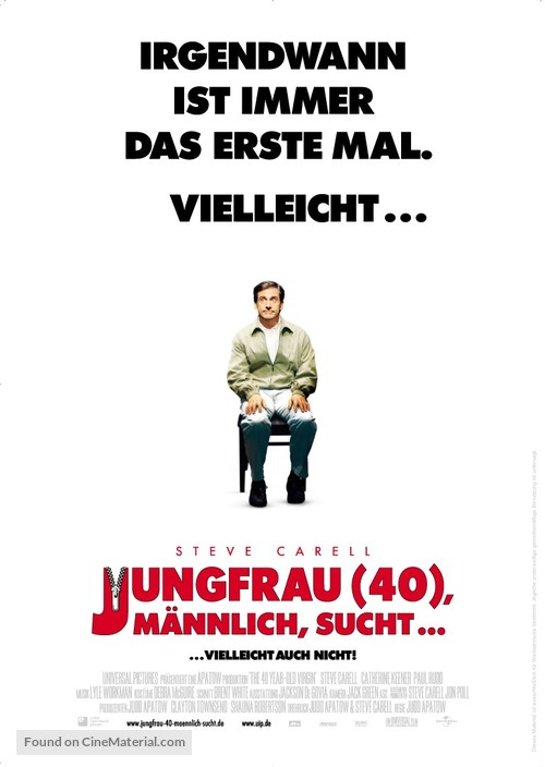 The 40 Year Old Virgin - German Movie Poster