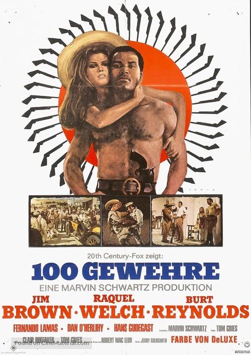100 Rifles - German Movie Poster