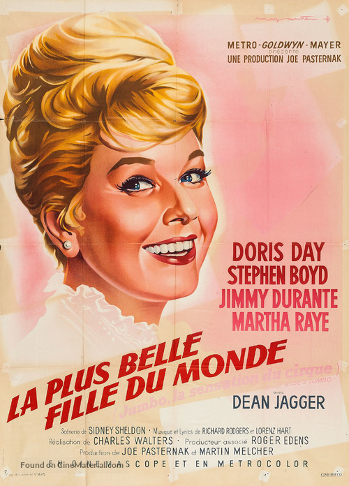 Billy Rose's Jumbo - French Movie Poster