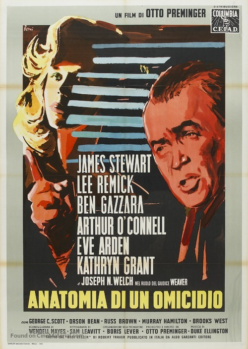 Anatomy of a Murder - Italian Movie Poster