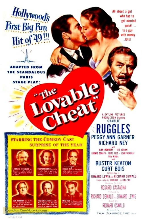 The Lovable Cheat - Movie Poster