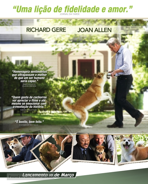 Hachiko: A Dog's Story - Brazilian Movie Poster