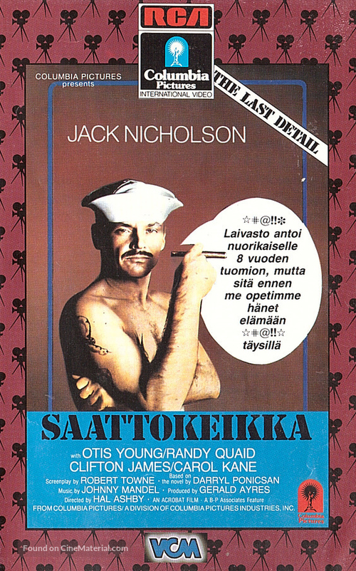 The Last Detail - Finnish VHS cover