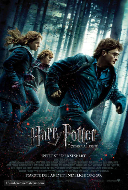 Harry Potter and the Deathly Hallows: Part I - Danish Movie Poster