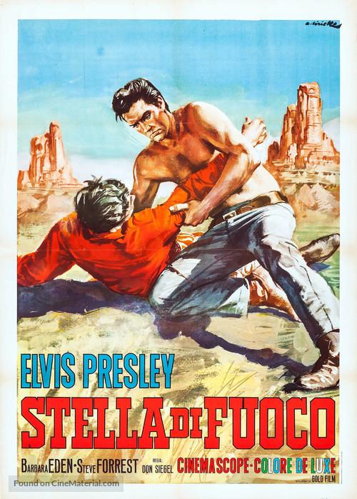Flaming Star - Italian Movie Poster
