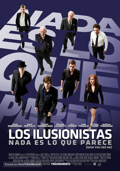 Now You See Me - Chilean Movie Poster