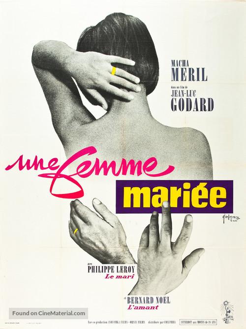 Une femme mariée: Suite de fragments d'un film tourné en 1964 - French Movie Poster