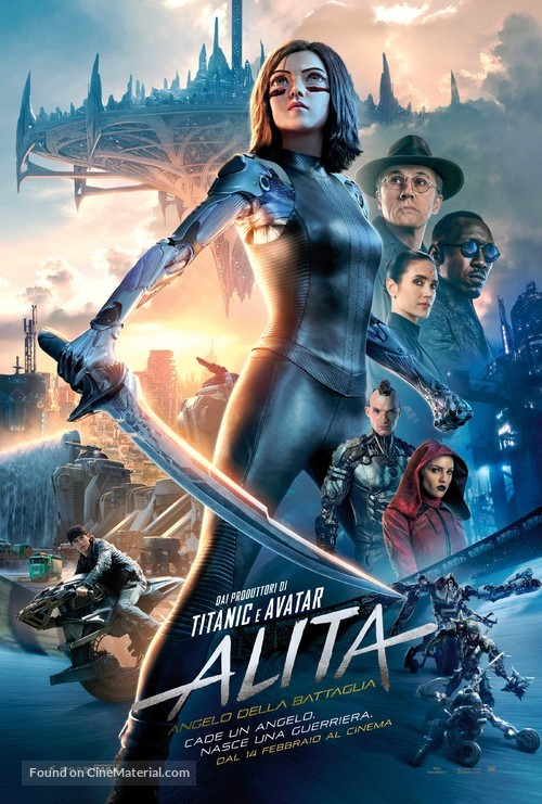 Alita: Battle Angel - Italian Movie Poster