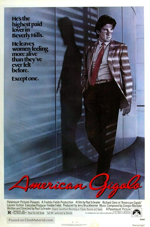 American Gigolo - Theatrical movie poster